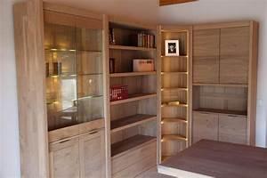Meuble Bibliothèque Bois : meuble bibliotheque d angle en bois id es de d coration int rieure french decor ~ Teatrodelosmanantiales.com Idées de Décoration