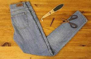 Unsichtbaren Saum Nähen : diy anleitung jeans mit ausgefranstem saum selber machen ~ Yasmunasinghe.com Haus und Dekorationen