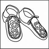 Moccasins Coloring American Native Pages Do2learn Template Credit Larger sketch template
