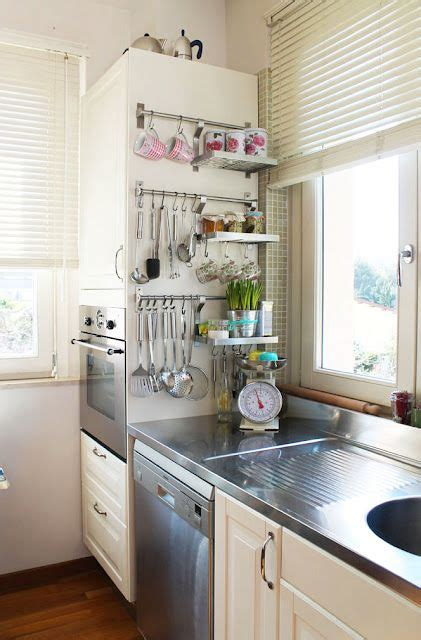 easy way to hang cabinets 24 creative small kitchen storage ideas shelterness