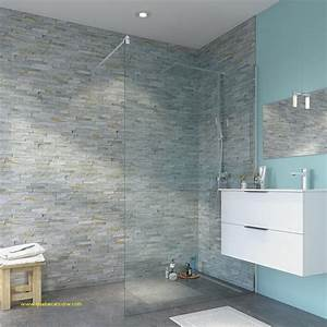 panneau mural salle de bain effet carrelage fabulous With carrelage adhesif salle de bain avec bande strip led