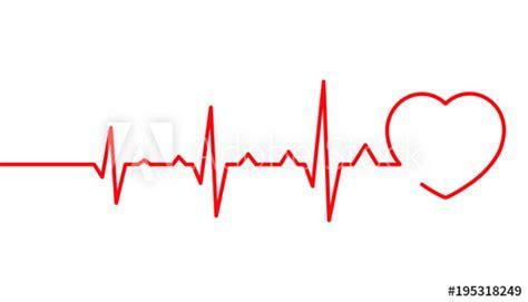 Heart pulse, Cardiogram line vector illustration