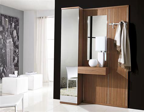 contemporary hallway storage unico modern hallway storage system in walnut with mirrors