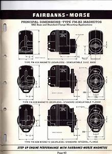 Fairbanks Morse Magneto Replacement Information 1952