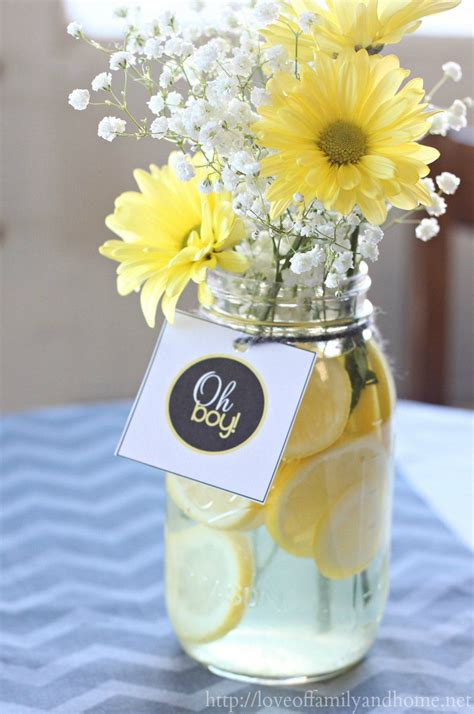 yellow baby showers  pinterest grey baby shower