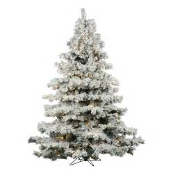 shop vickerman 6 5 ft pre lit alaskan pine artificial christmas tree with 600 count white led
