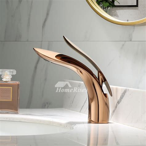 gold brass bathroom vanity sink faucets polished brass