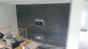 Tv An Wand Anbringen : multimedia wohnzimmer mit naturstein verblender selber bauen ~ Markanthonyermac.com Haus und Dekorationen