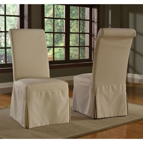 slipcovers  parsons chair   rolled