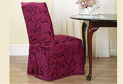 sure fit scroll dining room chair slipcover burgundy