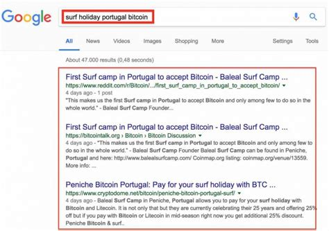 Cryptocurrency coin access feature, security platform, trade and trading address of low minimum payout for direct withdrawals s you can get bitcoins for surfing and it not a bad rate if. Portugal Bitcoin - surfing holiday - pay with Bitcoin ...