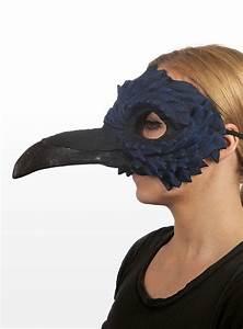 Crow Latex Half Mask - maskworld com