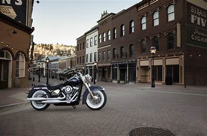 Harley Deluxe Davidson Softail Motorcycle Motorcycles Flde
