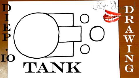 diepio  tank drawing   draw  tank easy