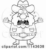Miner Clipart Prospector Cartoon Coloring Mining Freaking Chubby Cory Thoman Vector Outlined Dancing Happy Royalty Getdrawings Getcolorings Clipartof sketch template