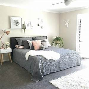 Kmart, Bedroom, Ideas, Grey, And, White, Themed, Bedroom, Add, More, Soft, Pink, And, Rose, Gold, Accesso