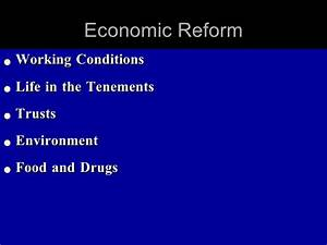 Economic Reform in the Progressive Era