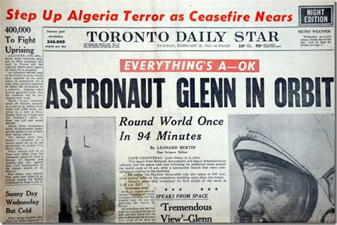 Headlines In Toronto's Newspapers In The 1960s