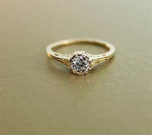 antique yellow gold engagement rings wedding promise With vintage gold wedding ring