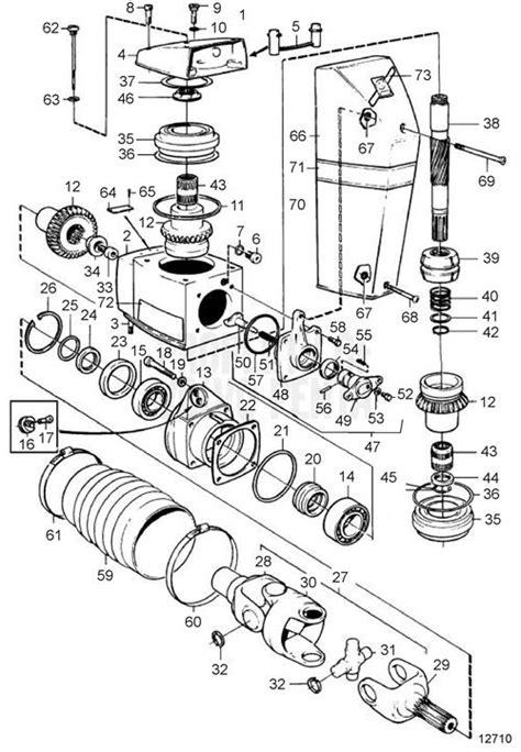 Volvo Penta Exploded View Schematic Upper Gear Unit