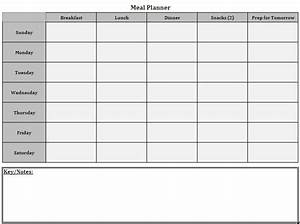 weekly menu templates cake ideas and designs With two week meal plan template