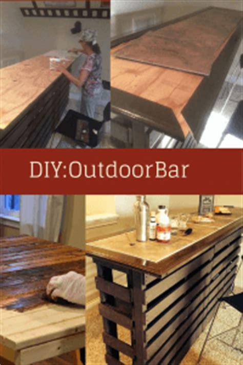 diy build   outdoor bar