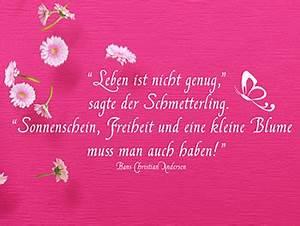 Blume Und Leben : wandtattoo zitate als wanddeko ~ Articles-book.com Haus und Dekorationen