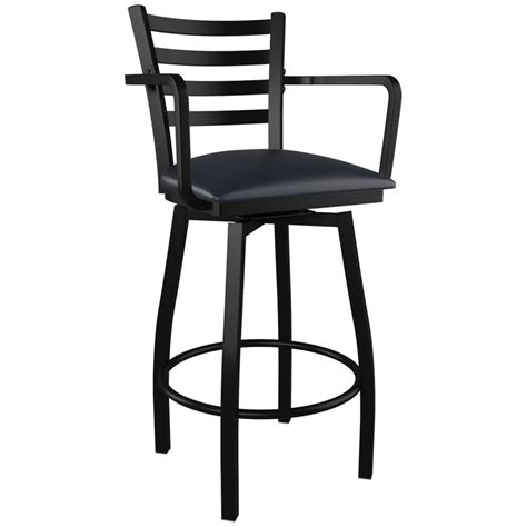 Stool With Arms Swivel Ladder Back Metal Bar Stool With Arms