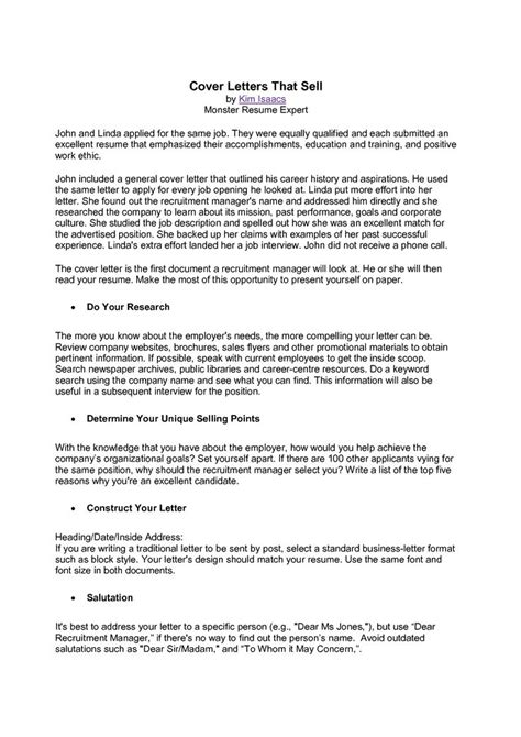 cover letter for resume unique writing a