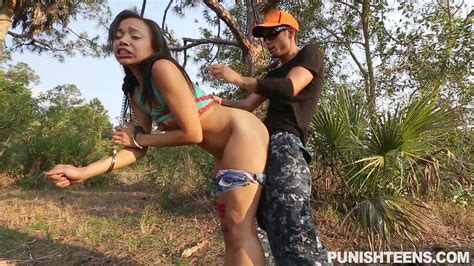 asian punish teens babe adrian maya gets fucked outdoors