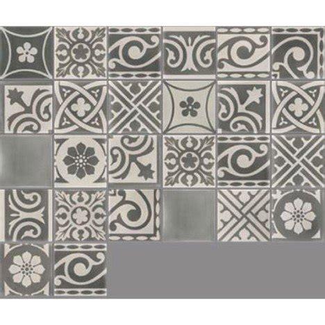 carreau de ciment int 233 rieur patchwork premium gris fonc 233 et clair 20 x 20 cm leroy merlin