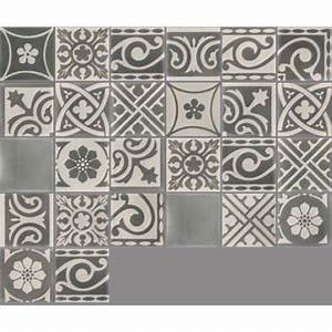 carreau de ciment sol et mur gris fonce et clair patchwork With carreau de ciment point p