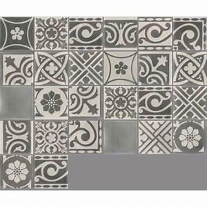 Adhesif Carreau De Ciment : carreau de ciment sol et mur gris fonc et clair patchwork ~ Premium-room.com Idées de Décoration