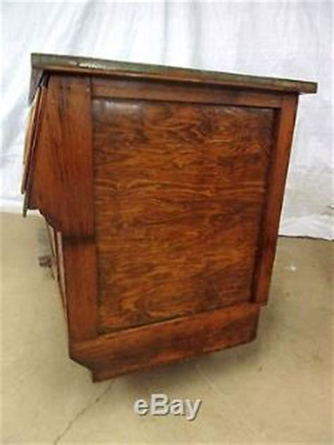 Beautiful Restored 18 Drawer Antique Sherer Oak Seed Bean
