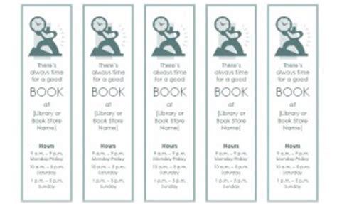 bookmark template bookmark template  word