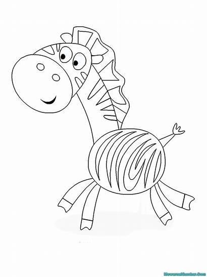 Zebra Gambar Mewarnai Buku Kartun Coloring Printable