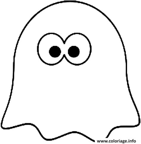 dessin de fantome a imprimer coloriage le fantome de pacman dessin