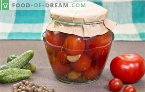 Konservēti tomāti ziemai: garšīga uzglabāšana. Receptes ...