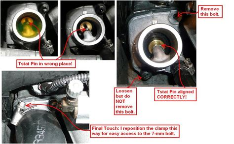 diy  volvo xc thermostat ect  removing ps