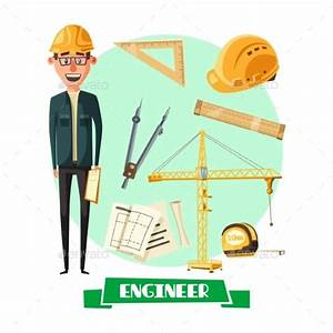 Engineer With Tool Icon For Profession Design By