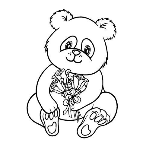 Dierenmasker Kleurplaat Panda by Leuk Voor Pandabeer 0005