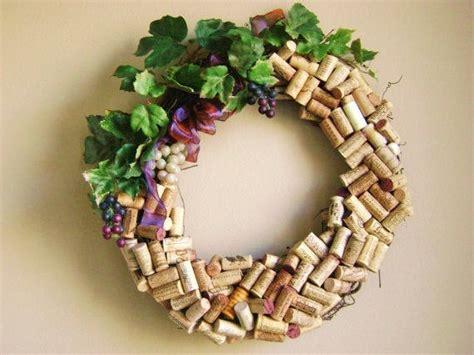 original recycled wine cork wreath washington state