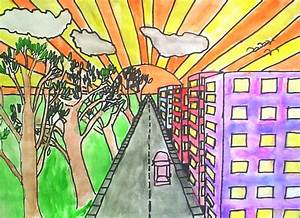 Lessons from the K-12 Art Room: One Point Perspective Cities