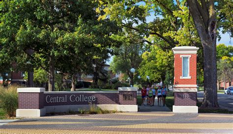 central college phyllis bornt plaza campus entry