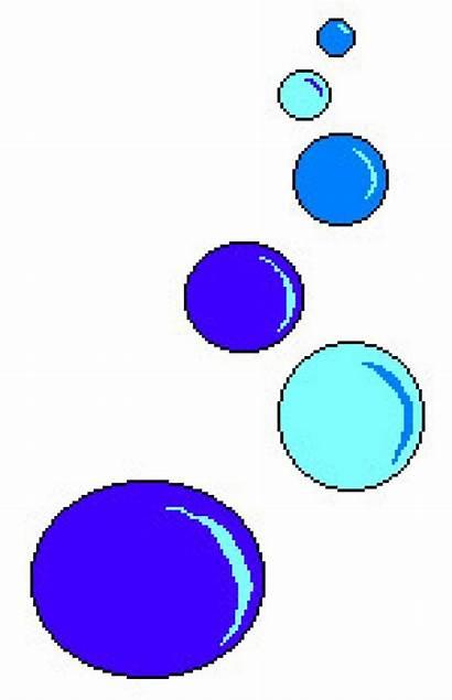 Bubbles Clipart Animated Sea Underwater Cartoon Non