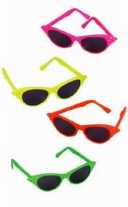 Neon Cat s Eye Sunglasses Candy Apple Costumes Women s