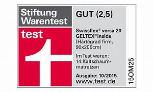 Matratze Stiftung Warentest Gut : swissflex testsieger ring of fire gmbh ~ Bigdaddyawards.com Haus und Dekorationen