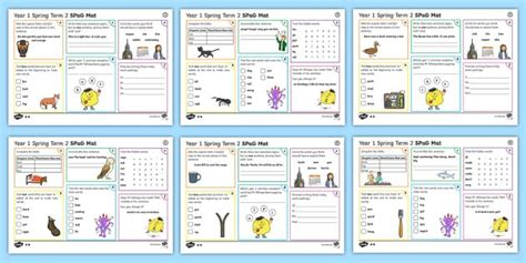 year  spring term  spag activity mats