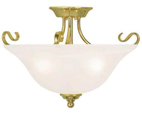 coronado  light livex polished brass semi flush ceiling