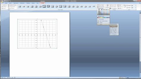 1 make a graph in microsoft word for math problems